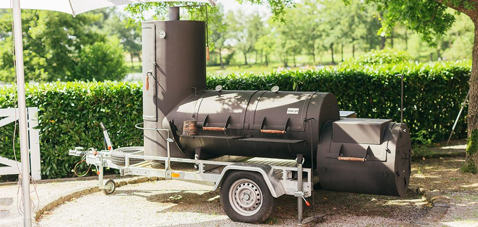 Barbecue mit Smoker