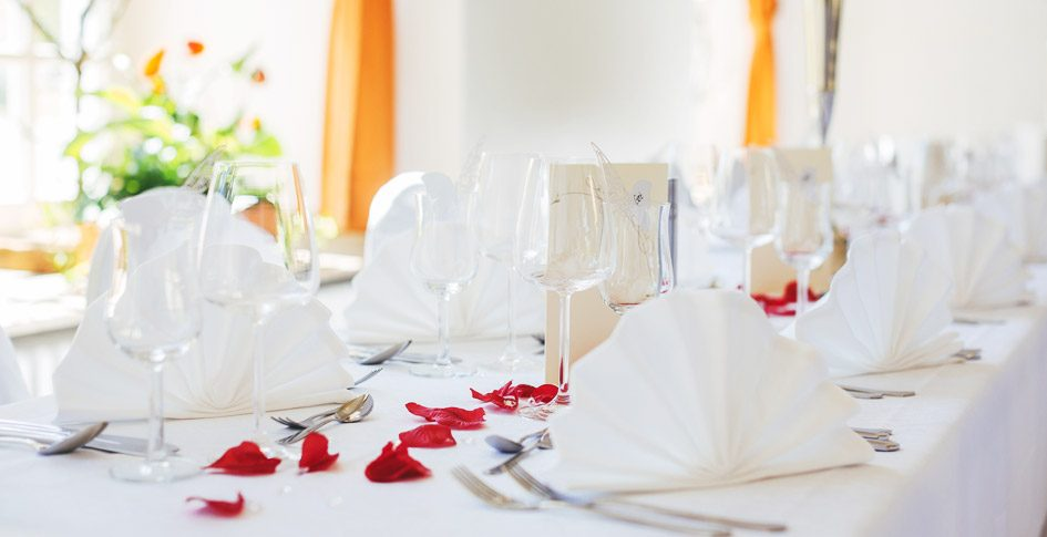 Tischdeko für Hochzeiten